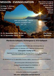 Mission - Evangelisation @ Pfarrkirche Gallspach   Linz   Oberösterreich   Österreich