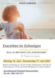 Exerzitien im Schweigen - Haus Subiaco @ Haus Subiaco | Linz | Oberösterreich | Österreich